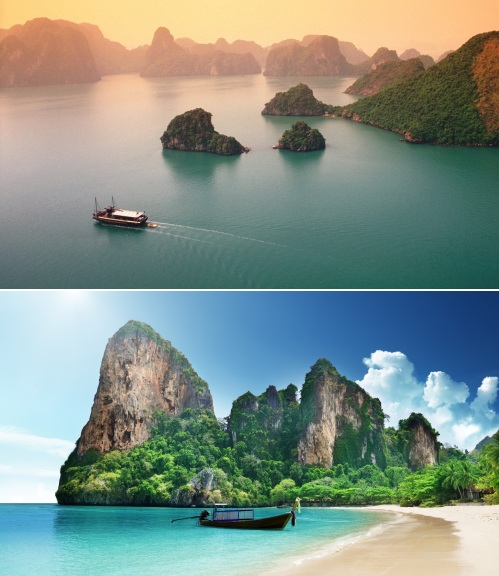 Vietnam and Thailand